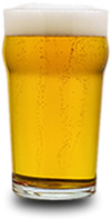 Photograph of full pint glass